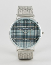 Reclaimed Vintage Inspired Check Mesh Watch In Silver Exclusive To Asos afbeelding