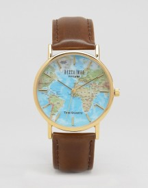 Reclaimed Vintage Inspired Classic Map Print Watch Exclusive To Asos afbeelding