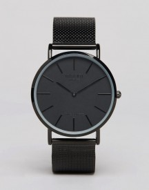 Reclaimed Vintage Inspired Classic Mesh Strap Watch In Black Exclusive To Asos afbeelding