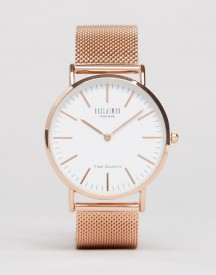 Reclaimed Vintage Inspired Classic Mesh Strap Watch In Rose Gold Exclusive To Asos afbeelding