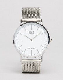 Reclaimed Vintage Inspired Classic Mesh Strap Watch In Silver Exclusive To Asos afbeelding