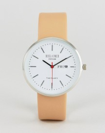 Reclaimed Vintage Inspired Date Leather Watch In Tan Exclusive To Asos afbeelding