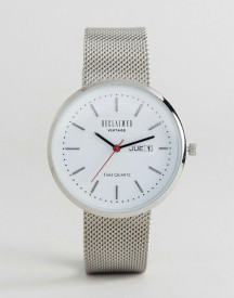 Reclaimed Vintage Inspired Date Mesh Watch In Silver Exclusive To Asos afbeelding