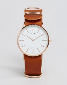 Reclaimed Vintage Inspired Leather Watch In Tan 36mm Exclusive To Asos afbeelding