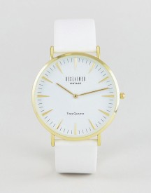 Reclaimed Vintage Inspired Leather Watch In White Exclusive To Asos afbeelding