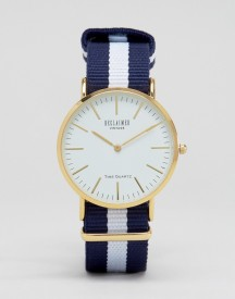 Reclaimed Vintage Inspired Navy Stripe Canvas Watch With White Dial Exclusive To Asos afbeelding