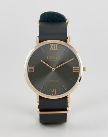 Reclaimed Vintage Inspired Roman Leather Watch In Black Exclusive To Asos afbeelding