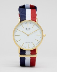 Reclaimed Vintage Inspired Stripe Canvas Watch With White Dial Exclusive To Asos afbeelding
