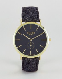 Reclaimed Vintage Inspired Sub-dial Wool Watch In Black Exclusive To Asos afbeelding