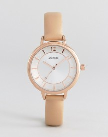 Sekonda 2137 Faux-leather Watch In Pink afbeelding