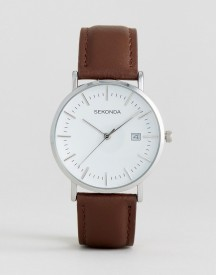 Sekonda Brown Leather Watch Exclusive To Asos afbeelding