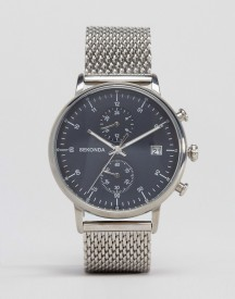 Sekonda Chronograph Mesh Watch In Silver afbeelding