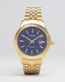Sekonda Gold Bracelet Watch With Blue Dial Exclusive To Asos afbeelding
