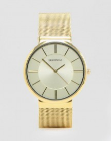 Sekonda Gold Mesh Watch Exclusive To Asos afbeelding