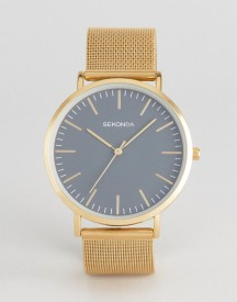 Sekonda Gold Mesh Watch With Grey Dial Exclusive To Asos afbeelding