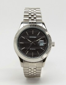 Sekonda Silver Bracelet Watch With Black Dial Exclusive To Asos afbeelding