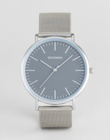 Sekonda Silver Mesh Watch With Grey Dial Exclusive To Asos afbeelding