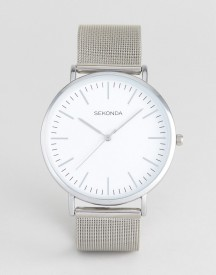 Sekonda Silver Mesh Watch With White Dial Exclusive To Asos afbeelding