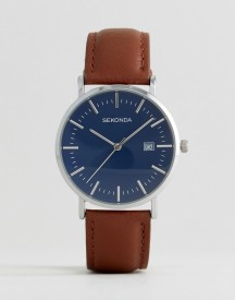 Sekonda Tan Leather Watch Exclusive To Asos afbeelding