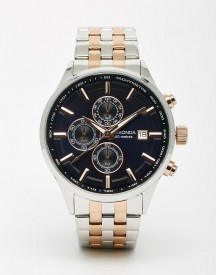 Sekonda Watch In Mixed Metal Stainless Steel afbeelding