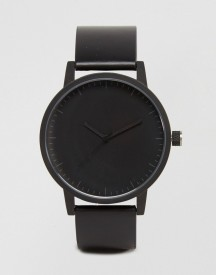 Swco Kent Leather Watch In Black afbeelding