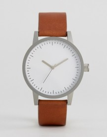 Swco Kent Leather Watch In Tan 38mm afbeelding