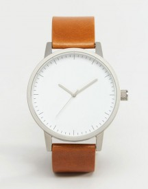 Swco Kent Leather Watch In Tan afbeelding