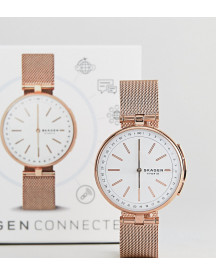 Skagen Connected Skt1404 Signatur Mesh Hybrid Smart Watch In Rose Gold afbeelding