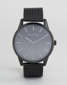Unknown Urban Ombre Mesh Watch In Black afbeelding