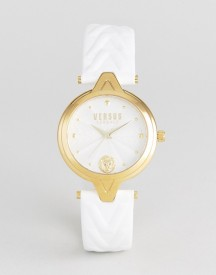 Versus Versace Sci21 V Leather Watch In White afbeelding