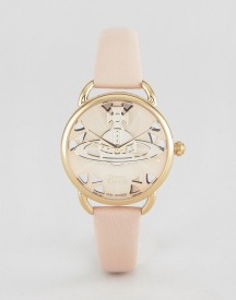 Vivienne Westwood Vv163bgpk Leather Watch In Pink afbeelding