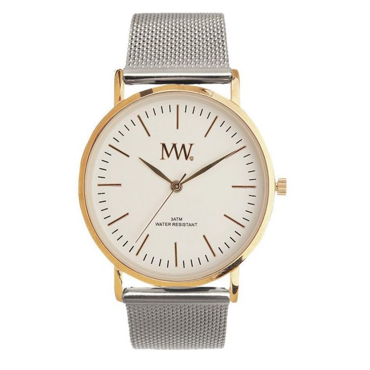 Image Mw Horloge Flat Style Gold / Silver