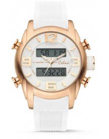Colori Continental 5-cld084 - Horloge - Siliconen Band - Wit - 47 Mm afbeelding