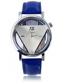 Driehoek Horloge Blauw | Statement Triangle Watch | Fashion Favorite afbeelding