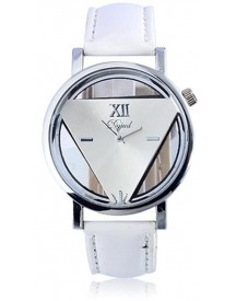 Driehoek Horloge Wit | Statement Triangle Watch | Fashion Favorite afbeelding