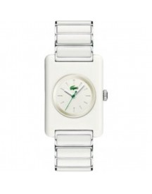 Lacoste Horlogeband Lc-04-4-29-0001 - 2010301 / Lc-04-4-29-000 Staal Wit 20mm afbeelding