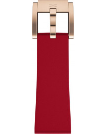 red silicon strap / rose clasp afbeelding