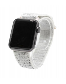 Apple Watch Nylon Loop Band -  Reflective White - Geschikt Voor Alle Apple Watches afbeelding