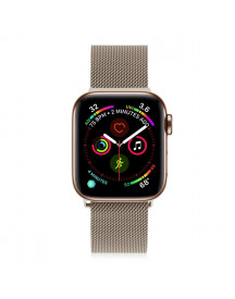 Apple Watch Milanese Band -  Retro Goud - Geschikt Voor Alle Apple Watches afbeelding