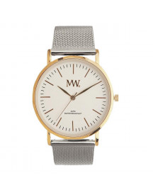 Mw Horloge Flat Style Gold / Silver afbeelding