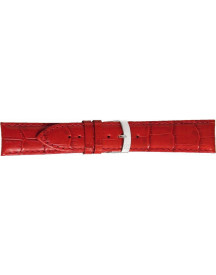 Morellato Horlogeband Extra X3395656083cr28 / Pmx083extra28 Croco Leder Rood 28mm + Standaard Stiksel afbeelding