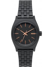 Nixon A399957 Small Time Teller All Black / Rose Gold - Horloge - 26mm - Rosé afbeelding