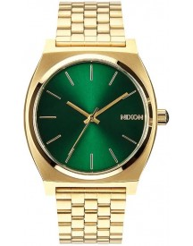 Nixon The Time Teller Gold Green Sunray Horloge A0451919 afbeelding