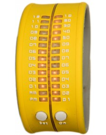 Reflex Slap-on Watch - Geel Horloge 33mm afbeelding