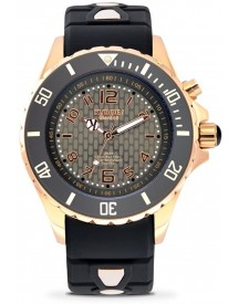 Kyboe! Rosegold Series - Rg.40-001 - Rose Gold Night - Horloge - Dames - Ø 40 Mm afbeelding