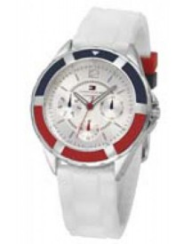 Tommy Hilfiger Horlogeband Th-47-3-14-0710 Th679300947 / 1780746 Rubber Wit 17mm afbeelding