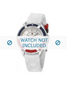 Tommy Hilfiger Horlogeband Th-47-3-14-0710 / Th679300947 Rubber Wit afbeelding