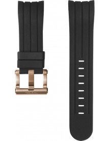 22mm Strap Black With Rose Clasp afbeelding