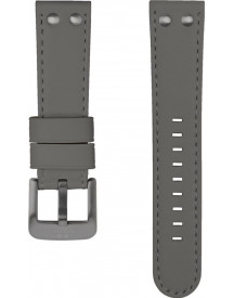24mm Grey Leather Strap For Pilot afbeelding