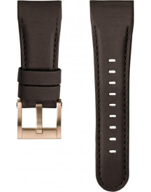 Brown Leather Strap With Rose Golden afbeelding